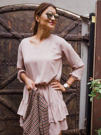 Sukienka Jess - pudrowy róż