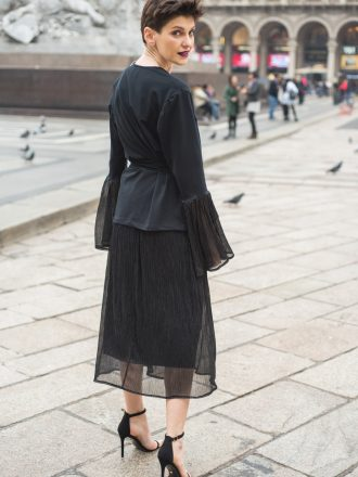 Spódnica solejka – black