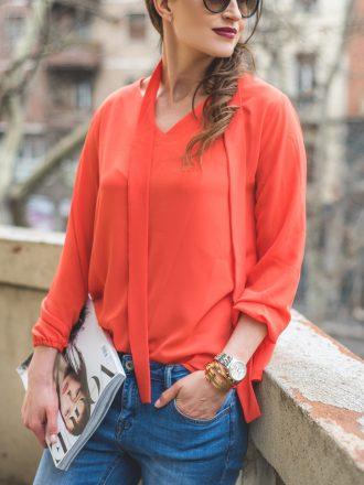 Bluzka Sally - pomarańcz