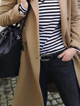 Skórzany pasek czarny * srebrne kołka