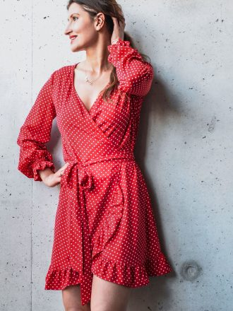 Sukienka Dolce Vita – dots red