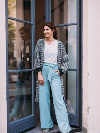 Szerokie spodnie * mięta