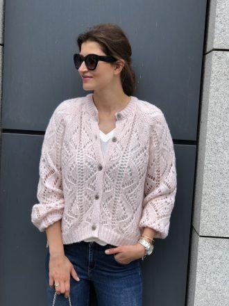 Ażurowy sweterek * pudrowy róż