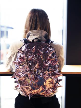 MADPAX Extreme pink MIRROR plecak LUSTRZANY
