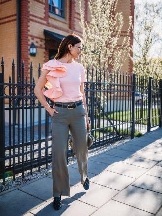 Szerokie spodnie * khaki
