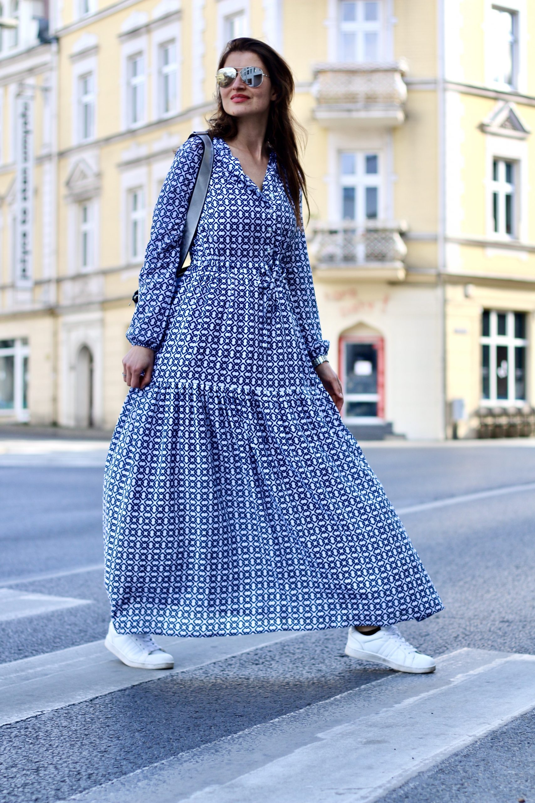 Sukienka maksi * blue pattern