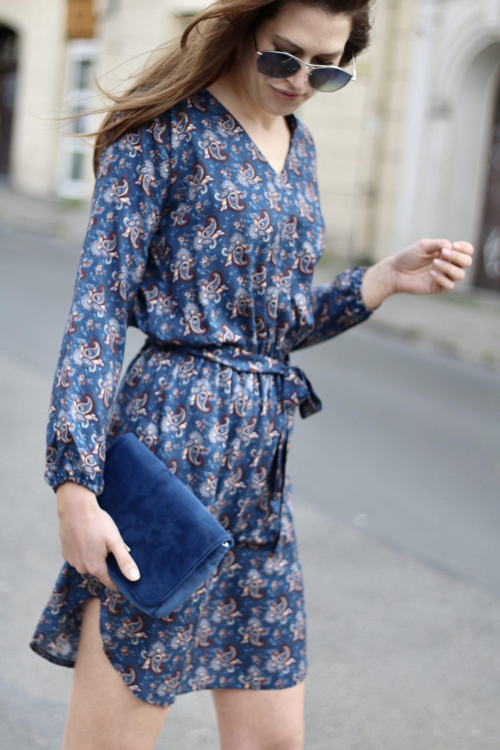 Sukienka Drew * blue paisley