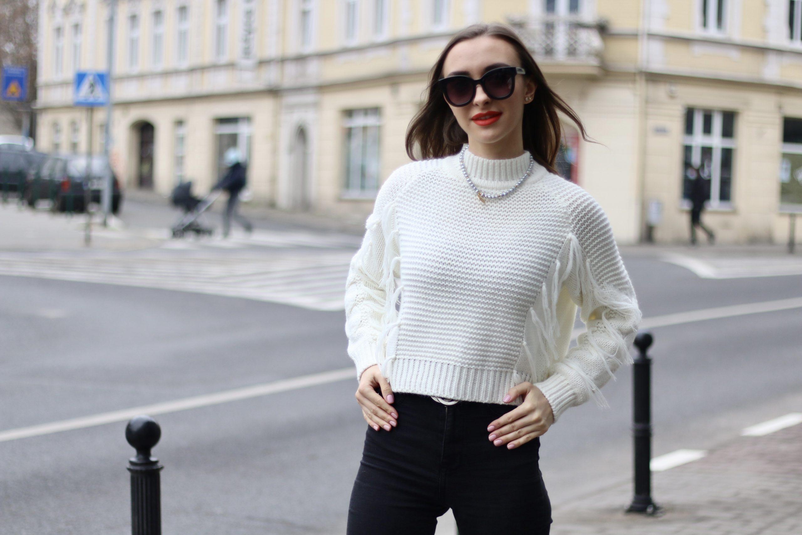 Sweterek frędzle * kolory