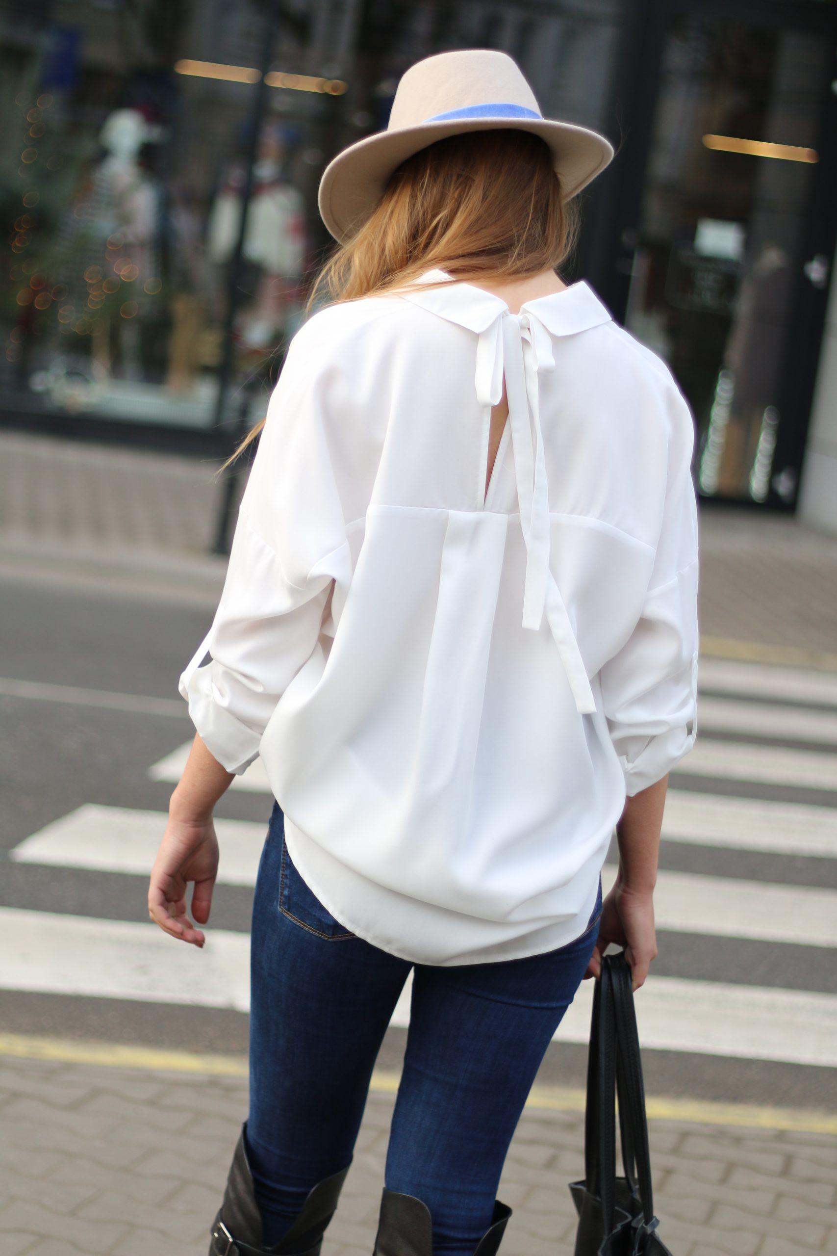 Bluzka koszula z kokardą na plecach