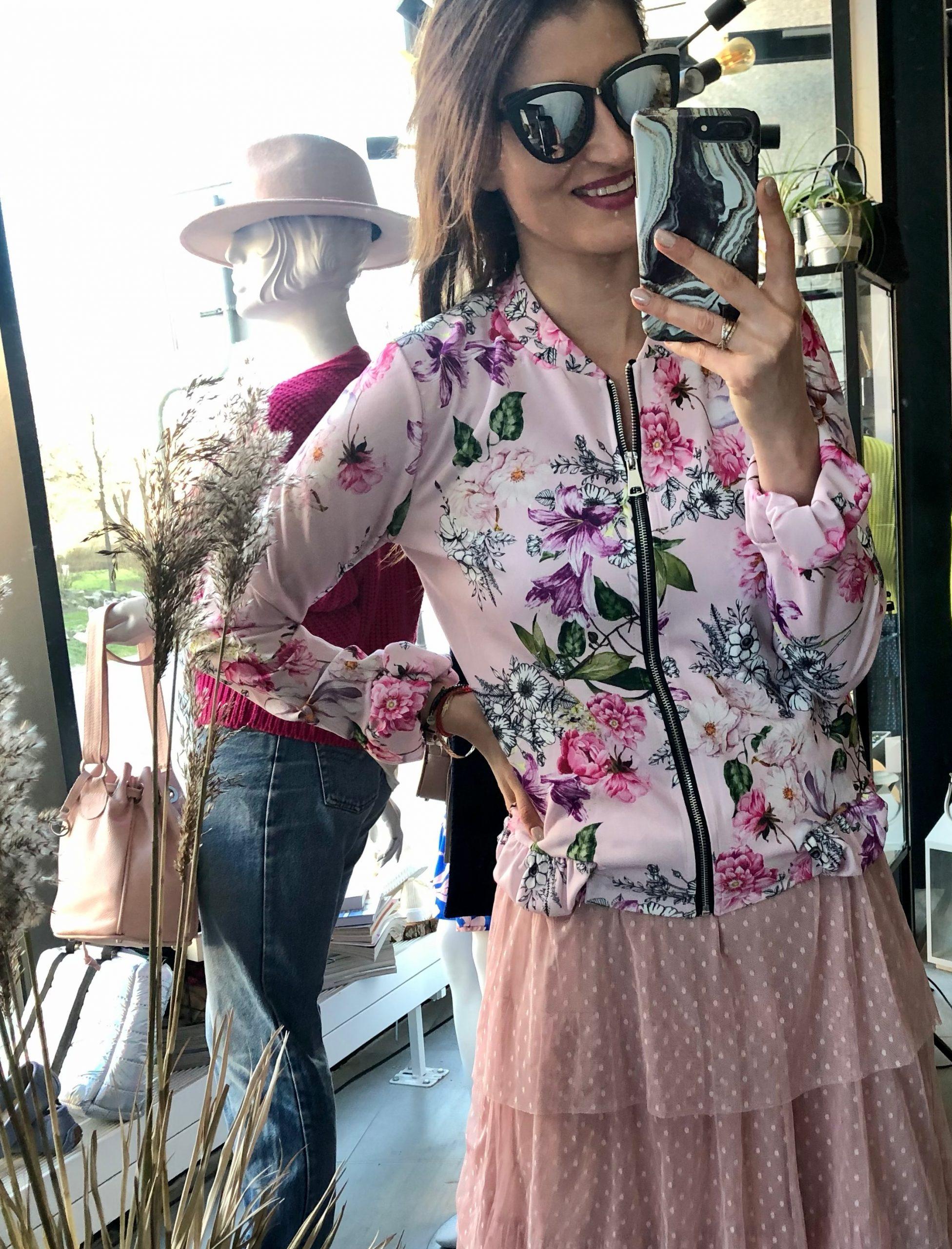 Bomberka w kwiaty *różowa