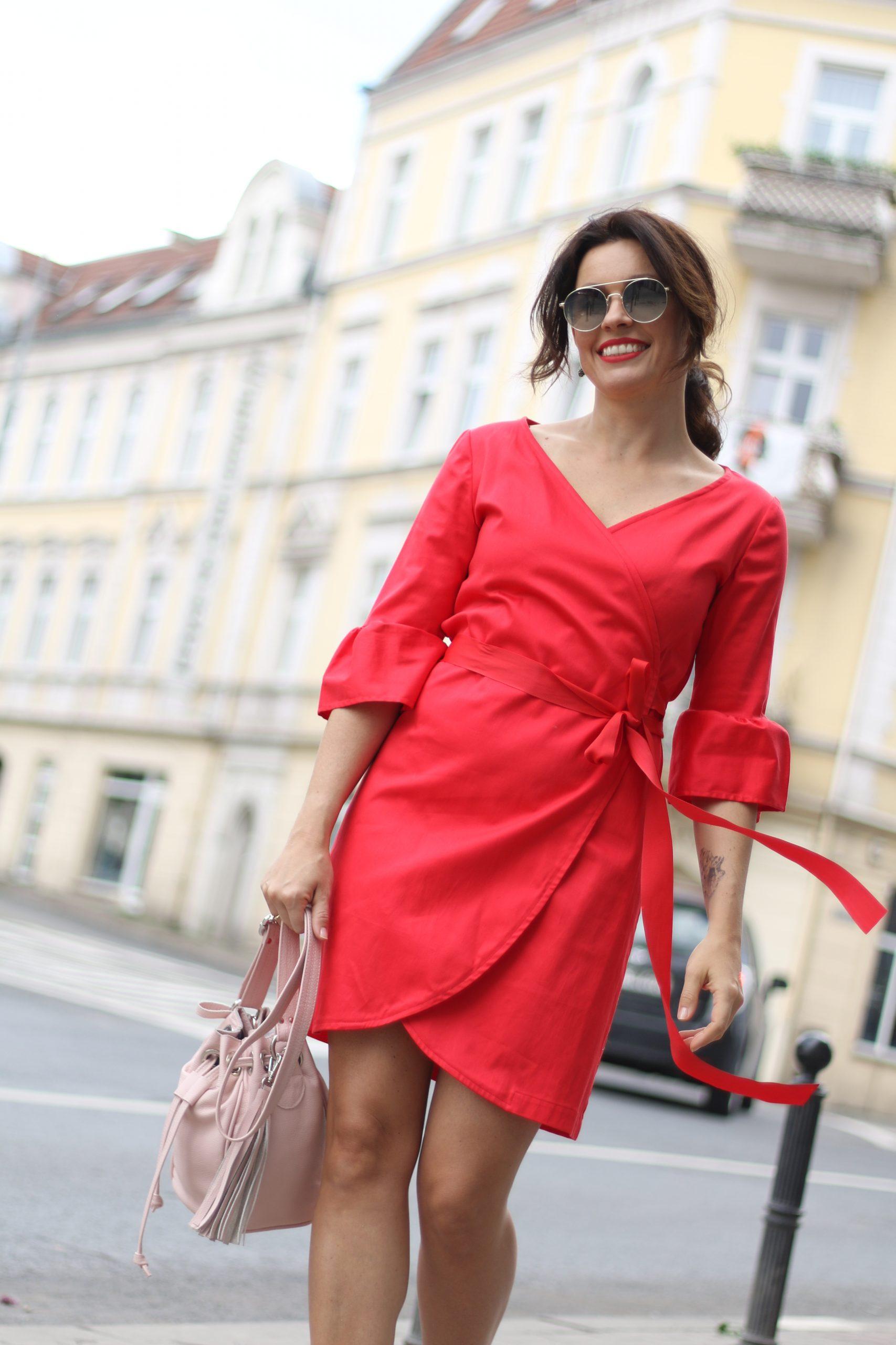 Sukienka kopertowa Bell * czerwień makowa