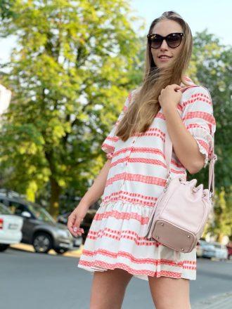 Sukienka w pasy boho krótka * kolory